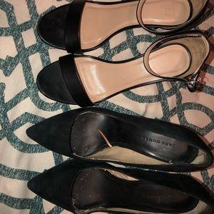 2 pack heels Zara Woman and Target